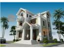 Thiết kế kiến trúc nhà biệt thự cổ điển cao 3 tầng