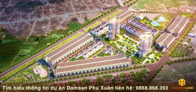 Phối cảnh dự án Damsan Phú Xuân Thái Bình